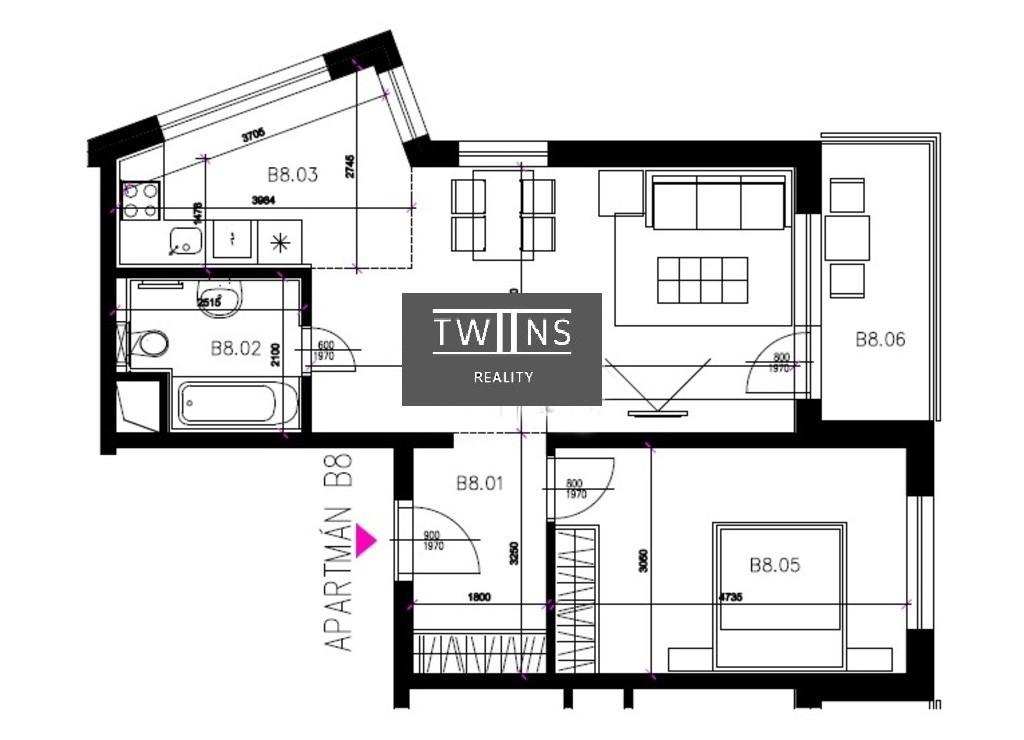 Predáme 2 izbový byt Novostavbu v Rači